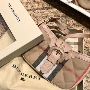 Burberry Quilted House Check Sophie Pochette Purse